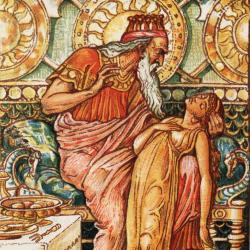 Midas holds his golden daughter