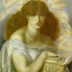 Rosetti's painting of Pandora opening the box
